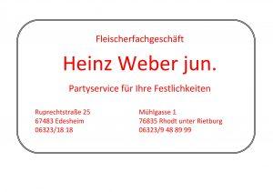 Anzeige Weber
